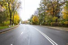 El camino de la calle de la ciudad Imagen de archivo