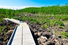 El camino de la galería en la lava Imagen de archivo libre de regalías