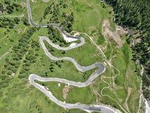 El camino de la montaña Fotografía de archivo