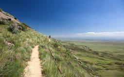 El camino de la montaña. Monasterio de David Gareja. Georgia fotos de archivo libres de regalías