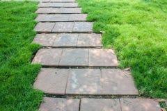 El camino de piedra de la caminata del bloque Imagenes de archivo