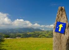 El Camino de Santiago, también conocida por el inglés nombra la manera de San Jaime foto de archivo