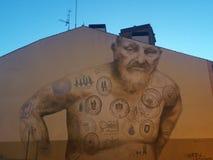 EL Camino dei graffiti fotografia stock libera da diritti