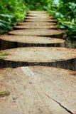 El camino? del amor - pies formados con los corazones Imagenes de archivo