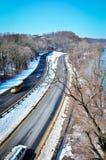 El camino del invierno Foto de archivo