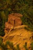 El camino del Rosellón cercano ocre, Francia Fotografía de archivo