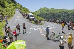 El camino del Tour de France - 2016 Foto de archivo libre de regalías