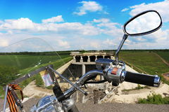 El camino en el Donbass Fotos de archivo libres de regalías
