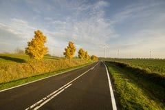 El camino en el medio de campos Imagen de archivo