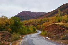 El camino en el valle Foto de archivo