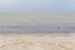 El camino en la arena de Lagoa hace el lago Patos Fotografía de archivo libre de regalías