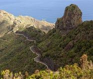 El camino en la isla de Tenerife Imagen de archivo libre de regalías