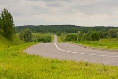 El camino en las colinas fotografía de archivo libre de regalías
