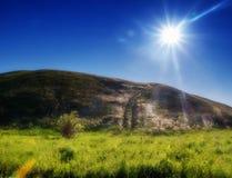 El camino en las colinas de Zhiguli Fotos de archivo libres de regalías