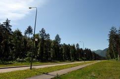 El camino en el turista y el ` recreativo de Katun de la turquesa del ` de la zona imágenes de archivo libres de regalías