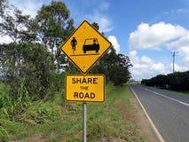 El camino firma adentro Australia Foto de archivo libre de regalías