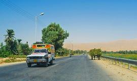 El camino interurbano Fotos de archivo