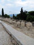 El camino a la acrópolis imagenes de archivo