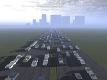 El camino a la ciudad Imagen de archivo