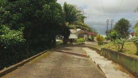 El camino a la fábrica del té, sin Souci, Seychelles almacen de metraje de vídeo