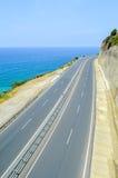 El camino a lo largo de la costa Imagen de archivo libre de regalías