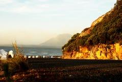 El camino por el océano. Imagen de archivo libre de regalías