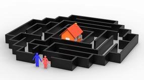 El camino a poseer la casa, 3d rinde libre illustration
