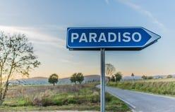 El camino que lleva al paraíso Imagen de archivo