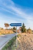 El camino que lleva al paraíso Foto de archivo