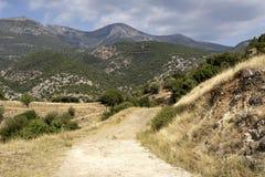El camino rural en las montañas fotografía de archivo