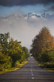 El camino a Svaneti en Georgia Imagen de archivo