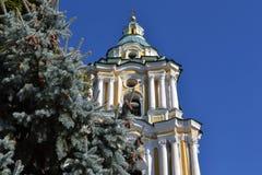 El campanario de la catedral ortodoxa Imagen de archivo libre de regalías