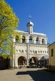 El campanario de St Sophia Cathedral en Novgorod Fotografía de archivo