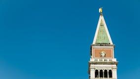 El campanil de St Mark, Venecia, Italia Foto de archivo libre de regalías