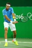 El campeón Juan Martin Del Porto del Grand Slam de la Argentina en la acción durante el ` s de los hombres escoge el cuarto de fi Imagen de archivo libre de regalías