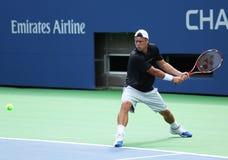 El campeón Lleyton Hewitt del Grand Slam de dos veces practica para el US Open 2013 Fotografía de archivo libre de regalías