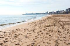 El Campello beach. El Campello is a town on the Costa Blanca. Alicante, Spain Royalty Free Stock Photo