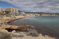 EL Campello vicino ad Alicante in Spagna immagini stock libere da diritti