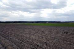 El campo arado, alista para sembrar Foto de archivo