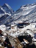El campo bajo de la montaña de Annapurna Imagen de archivo libre de regalías