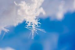 El campo Barneo en los copos de nieve del modelo del cubo de la nieve del llano de la nieve del Polo Norte alinea Foto de archivo