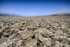 El campo de golf del diablo, Death Valley Foto de archivo libre de regalías