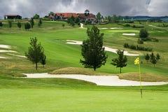 El campo de golf en Karlstejn Foto de archivo libre de regalías