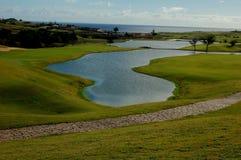 El campo de golf de Oporto hace a Santo en la isla de Madeira Fotos de archivo