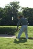 El campo de golf pone a tierra al encargado Imagen de archivo libre de regalías