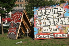 El campo del movimiento de la ocupación en Washington Foto de archivo