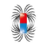 El campo magnético de las limaduras del hierro alinea vector libre illustration