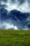 El campo tempestuoso Fotografía de archivo libre de regalías