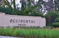 El campus de la universidad occidental (Oxy) Fotos de archivo