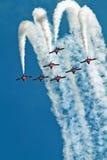 El canadiense fuerza los Snowbirds Jet Aircraft Team foto de archivo